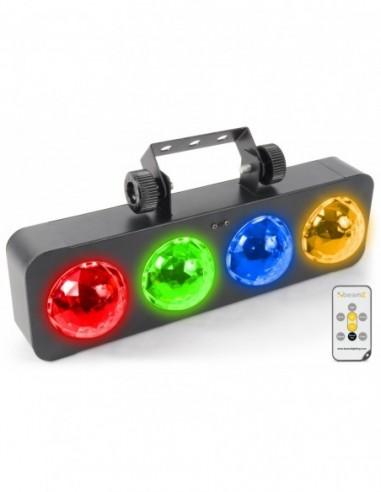 Beamz DJ Banco BX 4 leds RGBA mando a...
