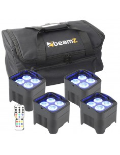 BeamZ Pack 4 focos con...