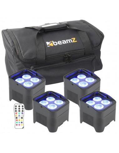 BeamZ Pack 4 focos con bolsa de...