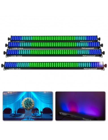 BeamZ Pack 4 barras de led y cableado