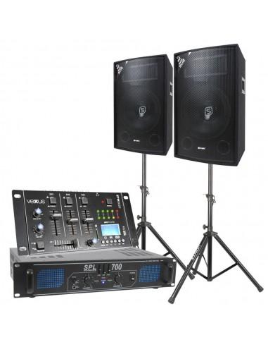 Pack completo de audio Skytec 350W RMS