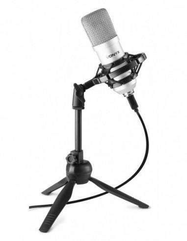 Vonyx CM300S Micrófono de estudio USB...