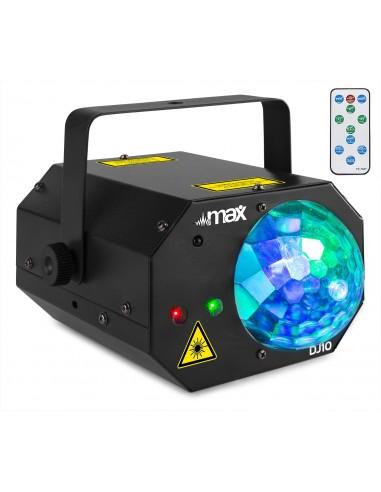 Max DJ10 Jelly Moon con Laser Rojo/Verde